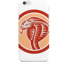 Cobra Viper Snake Head Circle Retro iPhone Case/Skin