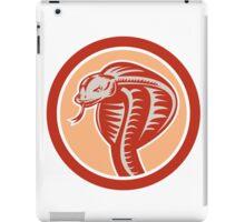 Cobra Viper Snake Head Circle Retro iPad Case/Skin