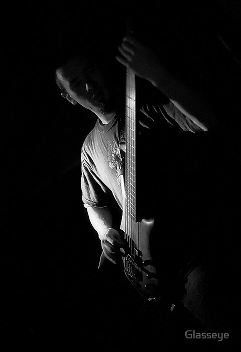 The Bass Player by Glasseye