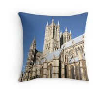 lincoln catherdral Throw Pillow