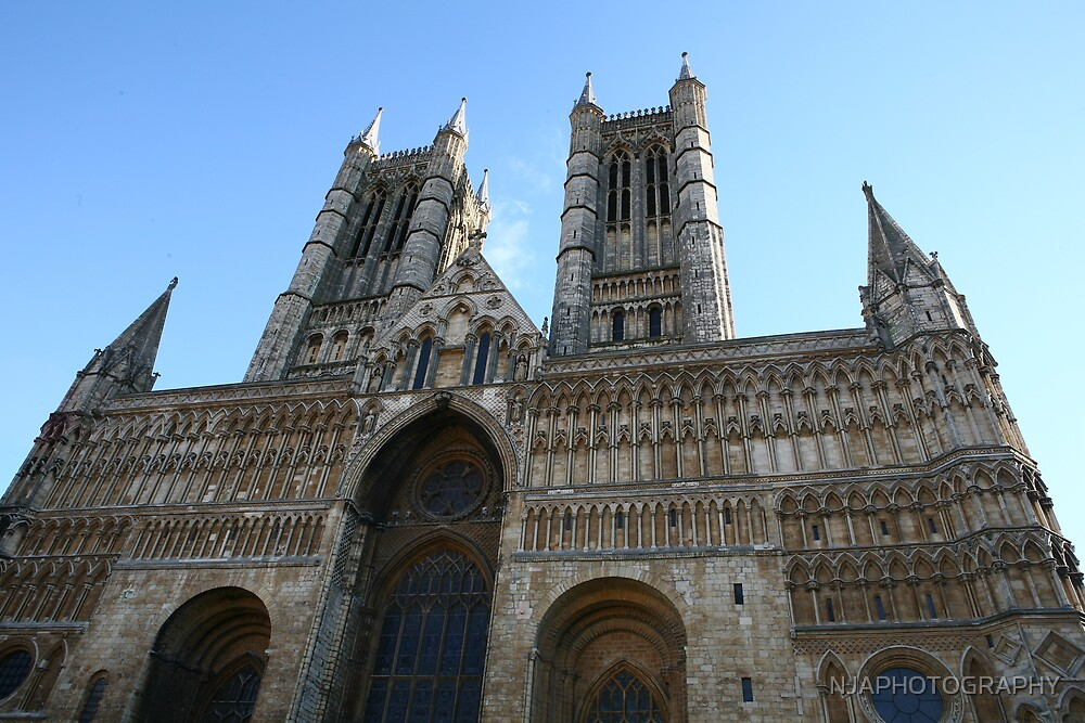 front view of lincoln catherdral by NJAPHOTOGRAPHY