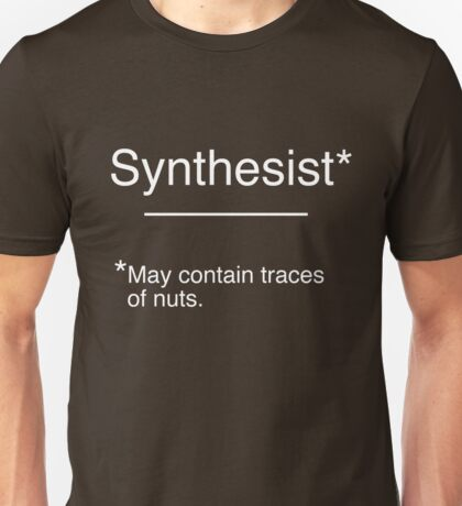 Synthesist - May contain traces of nuts. Unisex T-Shirt