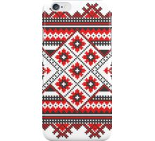 Knitting Pattern Christmas Card - Happy Holidays iPhone Case/Skin