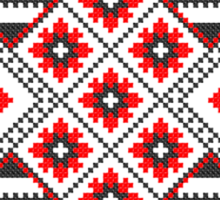 Red and Black Knitting Pattern Sticker
