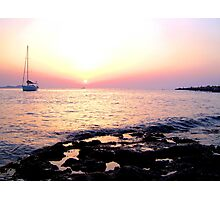 ibiza sunset Photographic Print