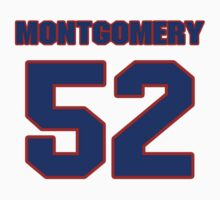 National football player Blanchard Montgomery jersey 52 by imsport