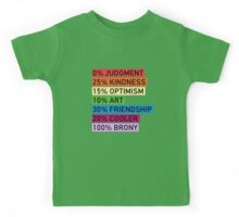 100% BRONY - MLP Kids Tee