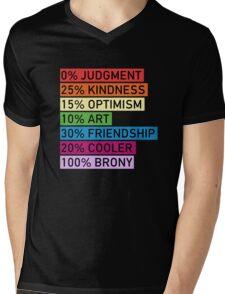 100% BRONY - MLP Mens V-Neck T-Shirt