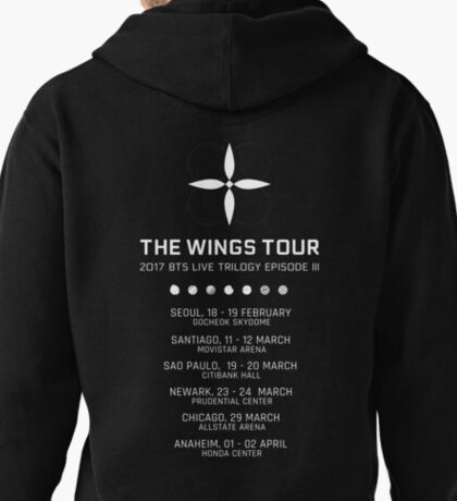 BTS WINGS TOUR CONCERT (White) Pullover Hoodie