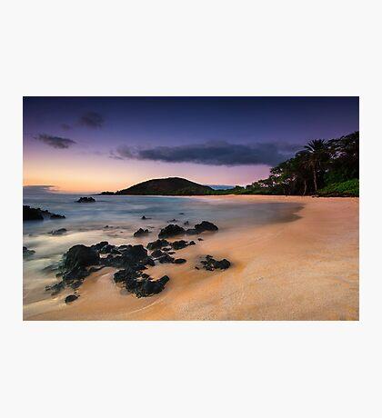 Big Beach Sundown - Maui Photographic Print