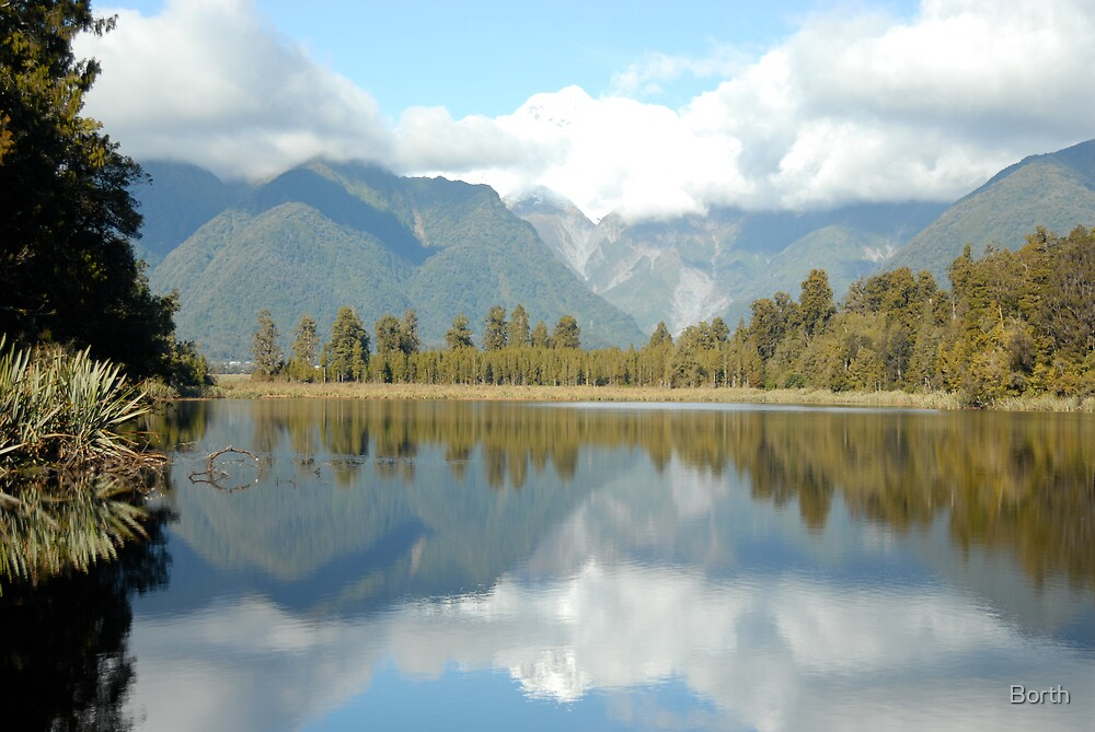 Lake Reflection by Borth