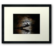 Darkness Falls Framed Print