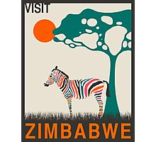 Visit ZIMBABWE Travel Poster (v2) Photographic Print