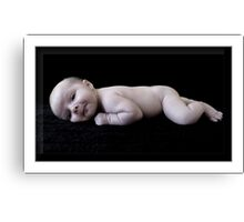 On My Belly Canvas Print