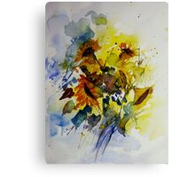 watercolor sunflowers Canvas Print