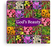 GOD'S BEAUTY IN WILD FLOWERS Canvas Print