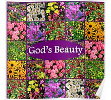 GOD'S BEAUTY IN WILD FLOWERS Poster