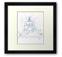 Big Blue Justice Framed Print