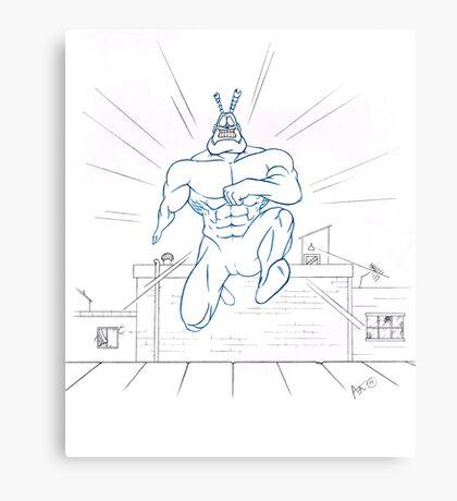 Big Blue Justice Canvas Print