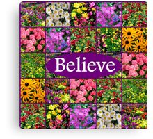 BELIEVE IN MIRACLES AND DREAMS Canvas Print