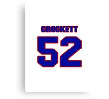 National football player Henri Crockett jersey 52 Canvas Print