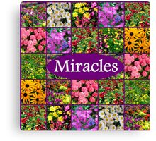 EXPECT A MIRACLE Canvas Print