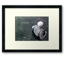 it's not over till the fat lady swims  Framed Print