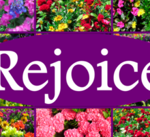 REJOICE IN LIFE Sticker