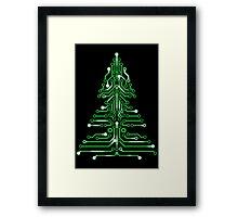 Christmas Circuitree Framed Print