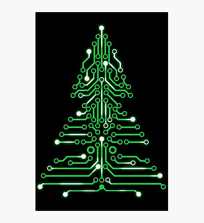 Christmas Circuitree Photographic Print