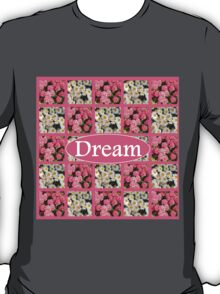 DREAM IN WHITE DAISIES AND PINK FLOWERS T-Shirt
