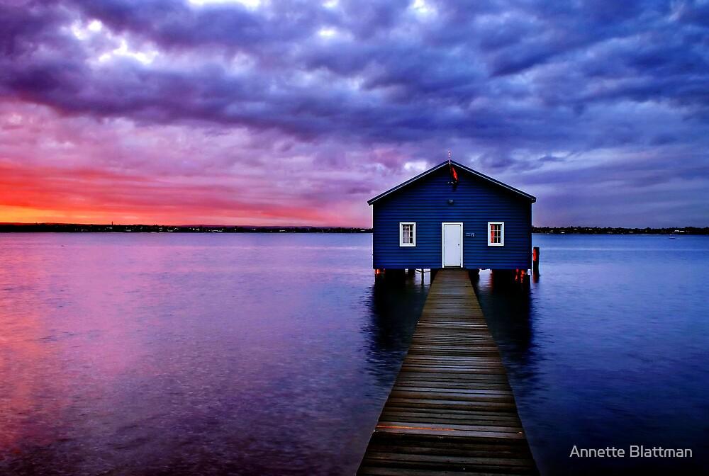 Blue Boathouse by Annette Blattman