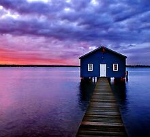 Blue Boathouse by Annette Blattman