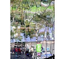 Coffee Shop Reflection  View Photographic Print