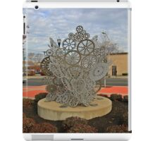 Sculpture At NJ Transit's 8th Street Station Bayonne NJ iPad Case/Skin