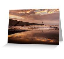 Harbour Sunrise - Seaham, Durham Greeting Card