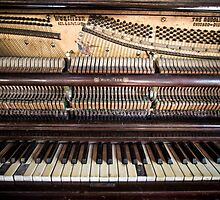 Old Honky Tonk Vintage Piano by thirdiphoto