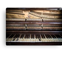 Old Honky Tonk Vintage Piano Canvas Print