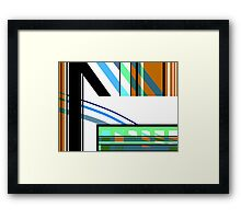 Laguz water river abstract black white blue green Framed Print