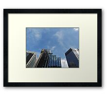 shades of blue. Framed Print