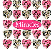 MIRACLES IN PINK AND WHITE FLOWERS Photographic Print