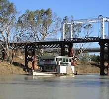 PV Jandra at Old North Bourke Bridge. by Ross Campbell
