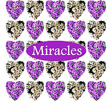 MIRACLES IN PURPLE AND WHITE FLOWERS Photographic Print