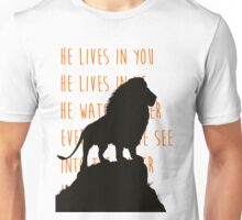 The Lion King - He Lives in You Lyrics Unisex T-Shirt