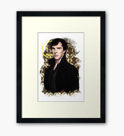 Sherlock - Benedict Cumberbatch Framed Print