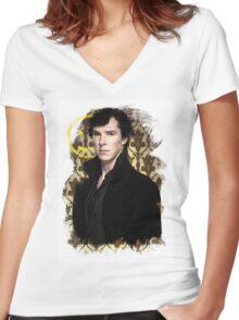 Sherlock - Benedict Cumberbatch Women's Fitted V-Neck T-Shirt