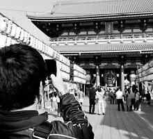 An image of an image - Senso-ji, Tokyo, Japan by Norman Repacholi