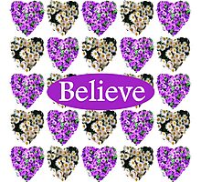 BELIEVE IN PURPLE AND WHITE FLOWERS Photographic Print