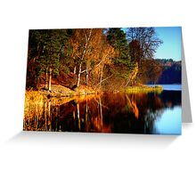 Silence in the autumn lake Greeting Card