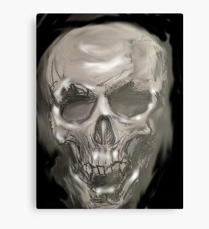 Black and white skull pencil Canvas Print